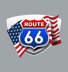 vintage route 66 logo vector image