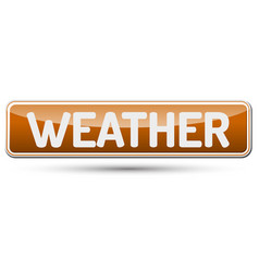 weather - abstract beautiful button with text vector image