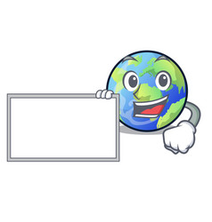 with board earth in the shape on character vector image