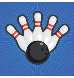 Bowling background vector image vector image