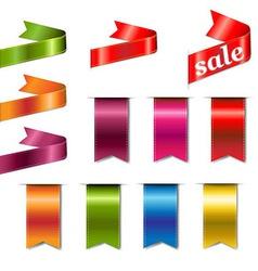 Colorful Web Ribbons Big Set vector image vector image