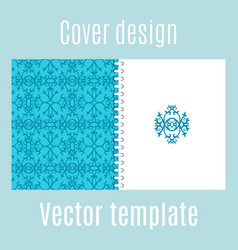 cover design with traditional arabic pattern vector image vector image