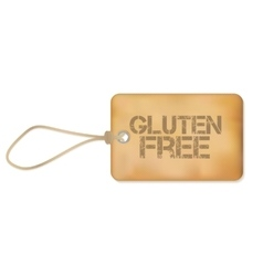 Gluten Free Old Paper Grunge Label vector image vector image