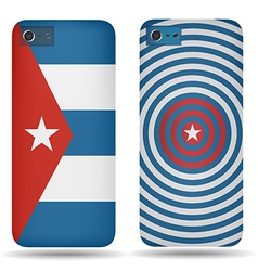 Rear covers smartphone with flags of Cuba vector image vector image