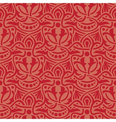 Red seamless wallpaper vector image
