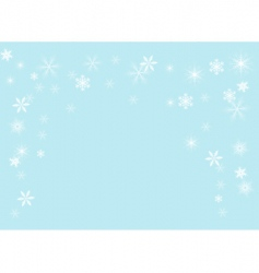 snowflakes illustration vector image vector image