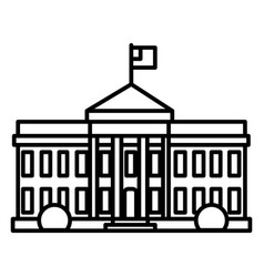 white house in usa line icon sign vector image vector image