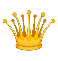 lady crown icon cartoon style vector image