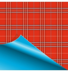 Paper with Tartan pattern vector image vector image