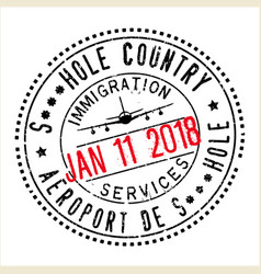 passport stamp design for shithole countries vector image vector image