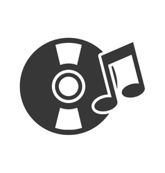 retro vinyl with musical notes vector image vector image