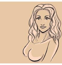 Sketch of woman vector image vector image
