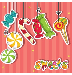 sweets on strings vector image