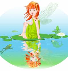 water fairy vector image vector image