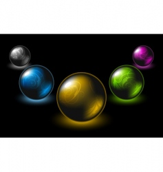 buttons colored vector image