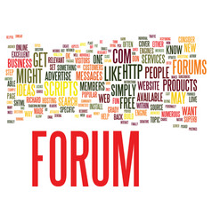 forums why you might want one and how to get one vector image