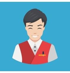 Hotel staff - Waiter Icon Flat design vector image