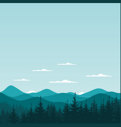 mountain nature6 vector image vector image