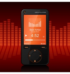 portable media player vector image vector image
