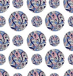 Seamless pattern with floral doodle elements vector image vector image