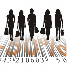 shopping discount fifty percent vector image vector image
