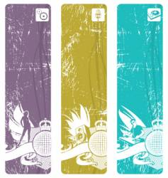 vertical disco banners vector image