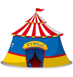 A colorful circus tent vector image