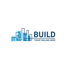 building constructionreal estate business sign vector image vector image