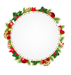 Speech Bubble With Christmas Icons vector image