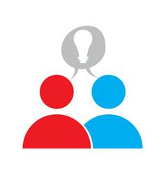 teamwork concept icon vector image