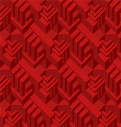3d red cube vector image
