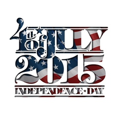4th of July Cut Out 2015 Independance Day vector image
