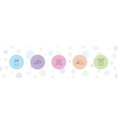 5 machine icons vector