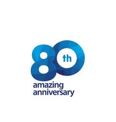 80 years amazing anniversary celebration template vector