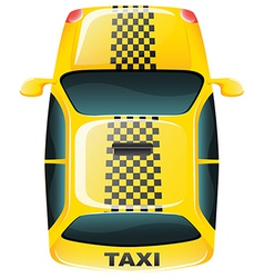 A topview of a yellow taxi cab vector