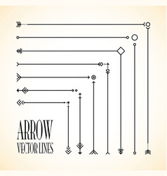 abstract arrow line set vector image
