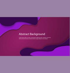abstract backgroun liquid paper cut dark purple vector image