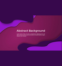 abstract background liquid paper cut dark purple vector image