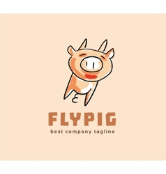 Abstract pig monster logo icon concept Logotype vector image