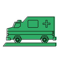 Ambulance healthcare icon image vector