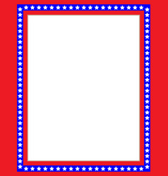 American flag symbols patriotic red blue border vector
