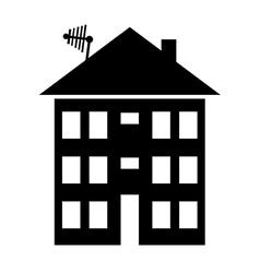 Apartment house icon vector