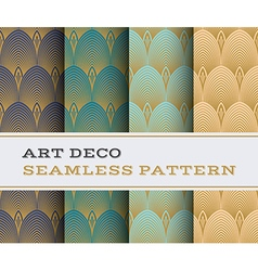 Art Deco seamless pattern 14 vector image