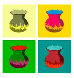 assembly flat potion cauldron vector image