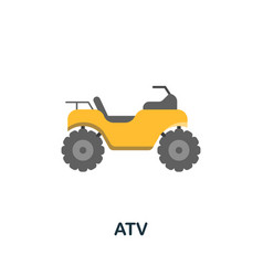 Atv icon flat sign element from extreme sport vector