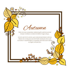 Autumn frame and leaves vector