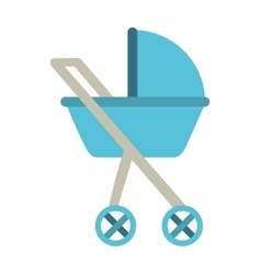 baby carriage isolated icon design vector image