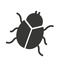 beetle silhouette black icon vector image