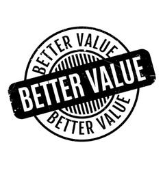 Better Value rubber stamp vector