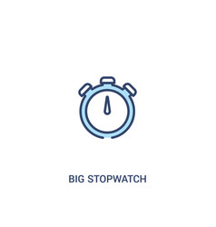 Big stopwatch concept 2 colored icon simple line vector